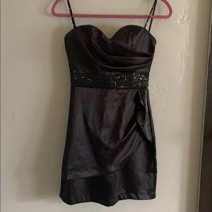 Strapless evening dress